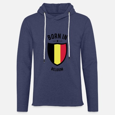 Born in Belgium - Sweat à capuche léger unisexe