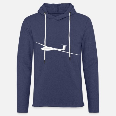 Shark glider glider fly gift - Light Unisex Sweatshirt Hoodie