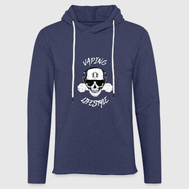 vaping lifestyle - vape steam steamer steaming Ohm - Light Unisex Sweatshirt Hoodie