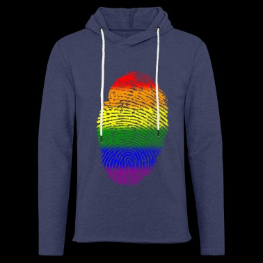 BLACK LESBIAN GAY FINGERPRINT T-SHIRT - Let sweatshirt med hætte, unisex
