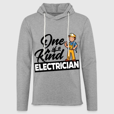 One Of A Kind Proud Electrician - One of a kind - Light Unisex Sweatshirt Hoodie