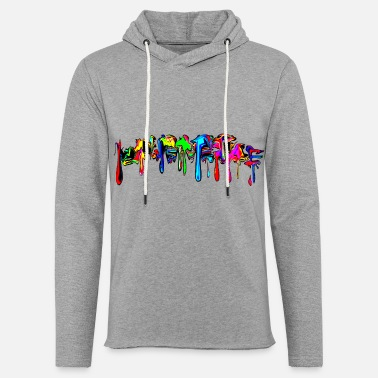 Trance Color, rainbow, graffiti, splash, paint, comic - Unisex let hættetrøje