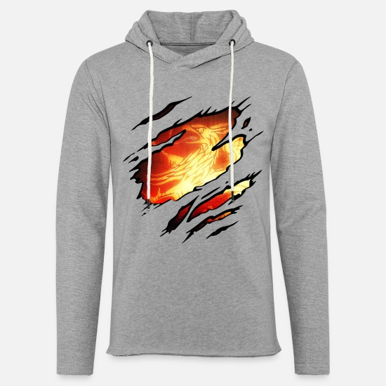Griffin Hoodies & Sweatshirts - Rostock Griffin Firebird - Unisex Sweatshirt Hoodie heather grey