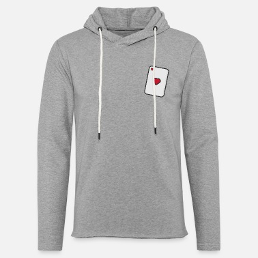 Playing Hearts, Playing card - Light Unisex Sweatshirt Hoodie