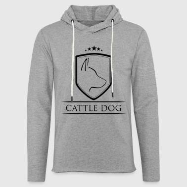Cattle Dog Pels - Let sweatshirt med hætte, unisex