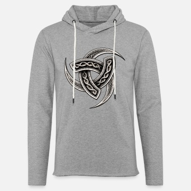Odin Triple Horn of Odin (Norse Symbol) - Light Unisex Sweatshirt Hoodie