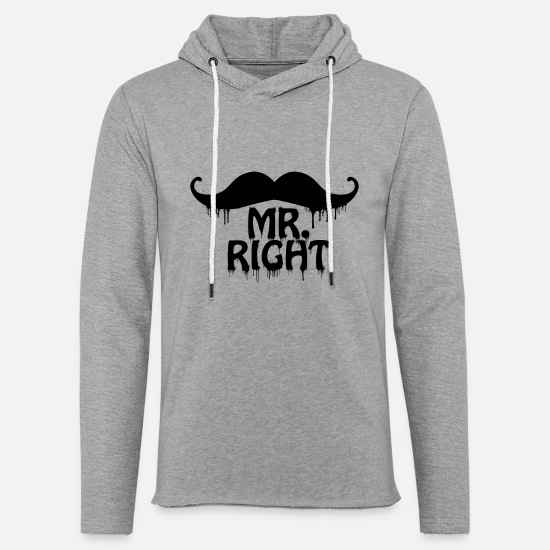 Birthday Hoodies & Sweatshirts - moustache MR Right - Unisex Sweatshirt Hoodie heather grey
