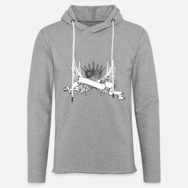 Wing Wings - Let sweatshirt med hætte, unisex