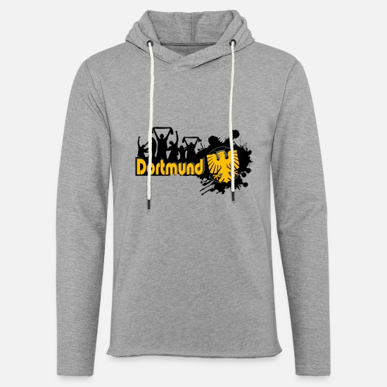 Fan Sweat-shirts - fan dortmund - Sweat à capuche léger unisexe gris chiné