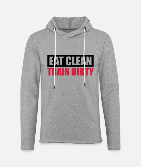 Food Hoodies & Sweatshirts - Cool design weight weight lifting dumbbell weight - Unisex Sweatshirt Hoodie heather grey