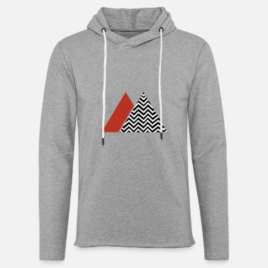 Design with zigzag and triangles - Unisex Sweatshirt Hoodie