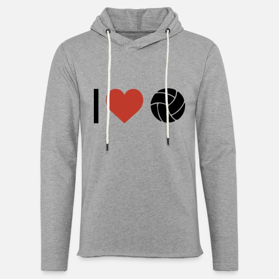 Love Hoodies & Sweatshirts - I heart volleyball sport - Unisex Sweatshirt Hoodie heather grey