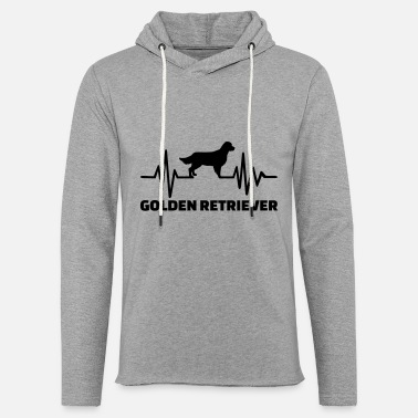 Felpa Con Cappuccio-CANE-CUCCIOLO-Canine Amo la mia Golden Retriever-Unisex Felpa Con Cappuccio