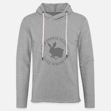 Animal Testing STOP ANIMAL TESTING - Light Unisex Sweatshirt Hoodie