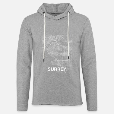 Surrey Surrey city map and streets - Unisex Sweatshirt Hoodie