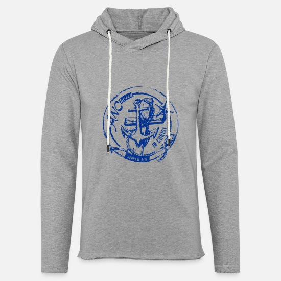 Christ Hoodies & Sweatshirts - ANChored in Christ - Unisex Sweatshirt Hoodie heather grey