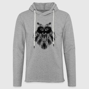 Calligraphic Owl owl black calligraphic - Light Unisex Sweatshirt Hoodie