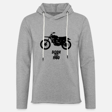 moto cross - Sweat-shirt à capuche léger unisexe