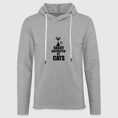 Distracted Distracted by Cats - Light Unisex Sweatshirt Hoodie