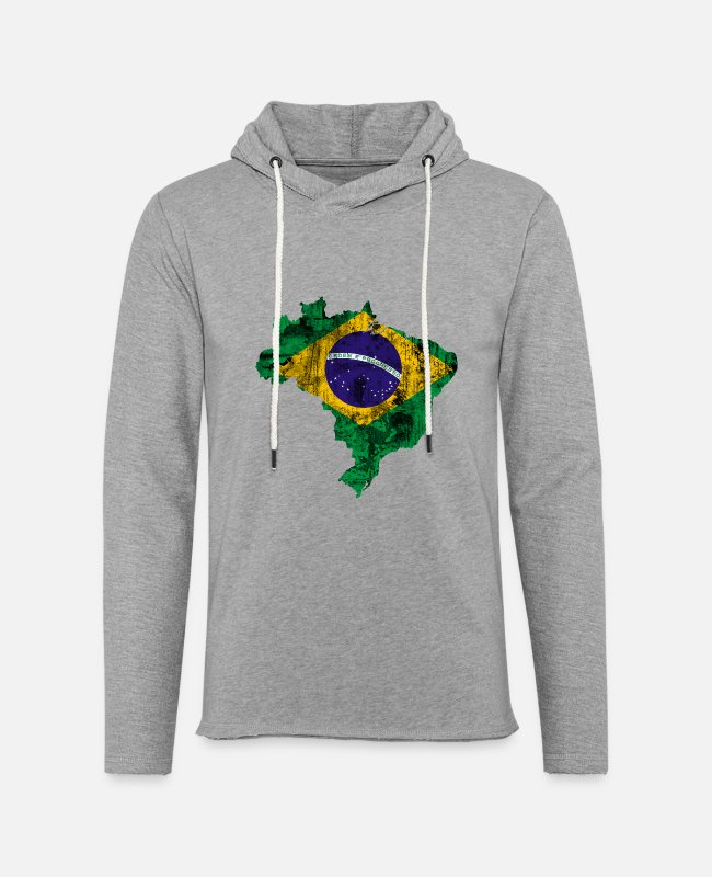 Dull Hoodies & Sweatshirts - Brazil - Unisex Sweatshirt Hoodie heather grey