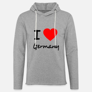 I Love Germany I LOVE GERMANY - Sudadera con capucha ligera unisex