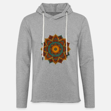 HANDPAN hang drum MANDALA teal red brown - Unisex Kapuzen-Sweatshirt