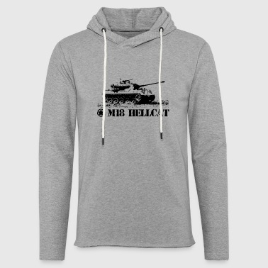 Tank m18 hellcat tank destroyer - Light Unisex Sweatshirt Hoodie