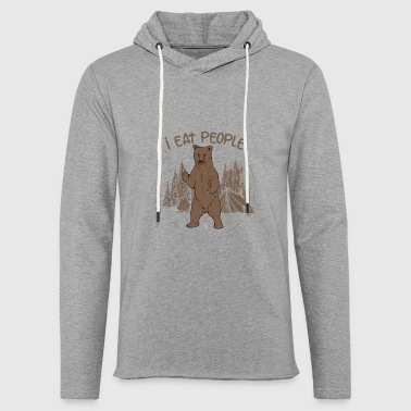 Bear Camping Costume Jumpsuit Tent Funny Gift - Light Unisex Sweatshirt Hoodie