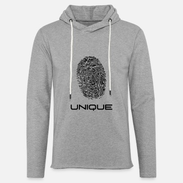 Unique - empreinte digitale - unique - empreinte digitale - Sweat-shirt à capuche léger unisexe