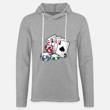 Texas Holdem Tarjetas POKER Poker Chips Texas Holdem Regalo - Sudadera con  capucha ligera unisex 7bbc7b8cd4b