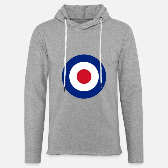 Royal Air Force Pullover & Hoodies - Target, roundel - Unisex Kapuzen-Sweatshirt Grau meliert