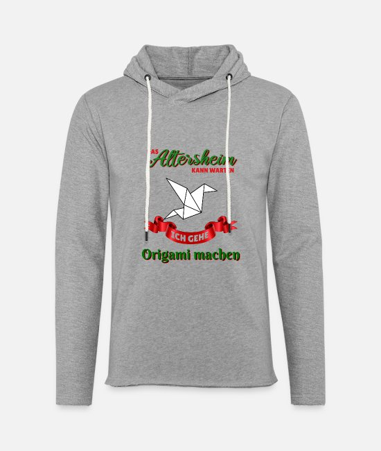 Love Hoodies & Sweatshirts - Origami t-shirt gift idea hobbyist friends - Unisex Sweatshirt Hoodie heather grey