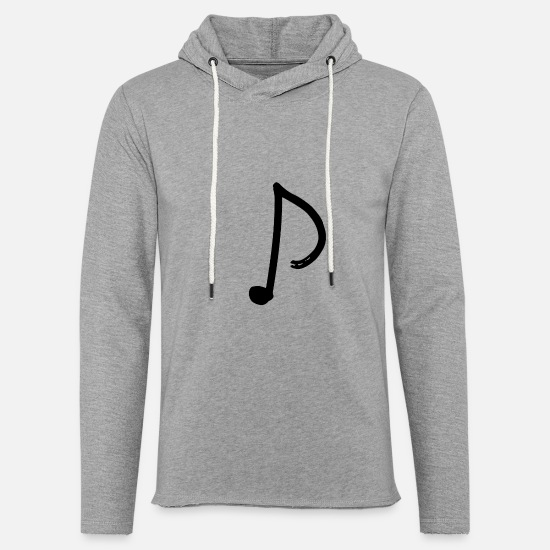 Typography Hoodies & Sweatshirts - Note - eighth note - Unisex Sweatshirt Hoodie heather grey