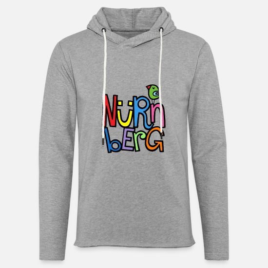 Lettering Hoodies & Sweatshirts - Nuremberg - Unisex Sweatshirt Hoodie heather grey