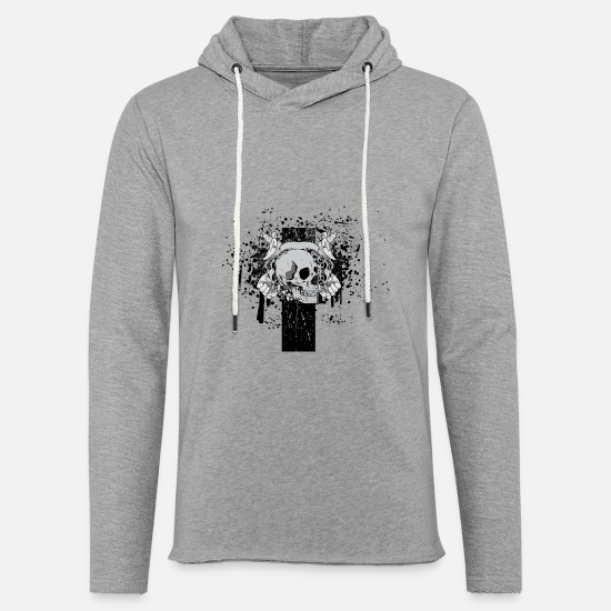 Floral Hoodies & Sweatshirts - Death Skull - Unisex Sweatshirt Hoodie heather grey