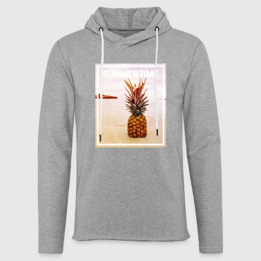 pineapple in sand - Light Unisex Sweatshirt Hoodie