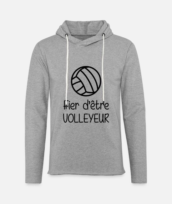 Play Hoodies & Sweatshirts - Fier d'être Volleyeur - Unisex Sweatshirt Hoodie heather grey