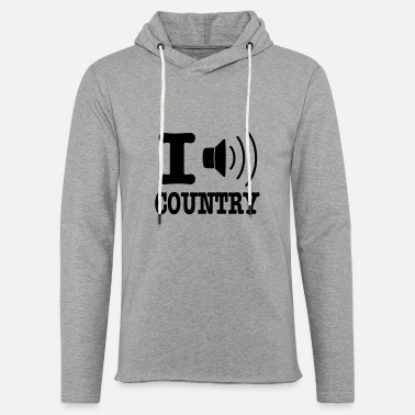 Country I music country / I love country - Unisex let hættetrøje