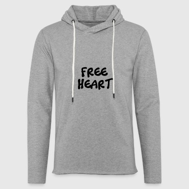 FREE BLACK HEART - Light Unisex Sweatshirt Hoodie