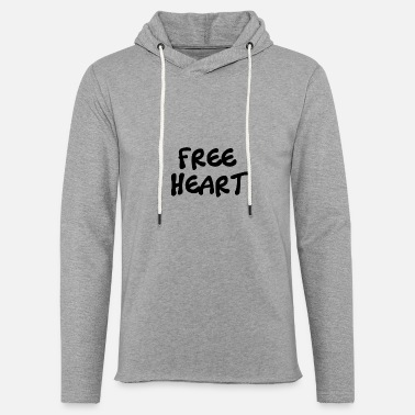 Black For Free FREE BLACK HEART - Light Unisex Sweatshirt Hoodie