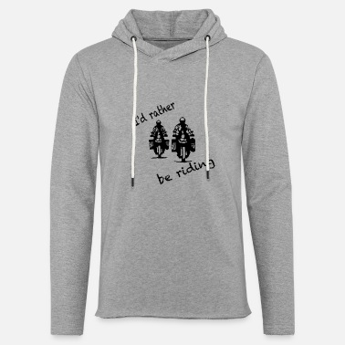rather be riding black - Unisex Kapuzen-Sweatshirt