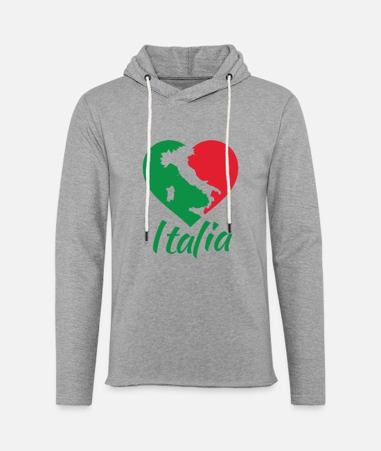 Faded Hoodies & Sweatshirts - Italia Heart - I Love Italy - Unisex Sweatshirt Hoodie heather grey