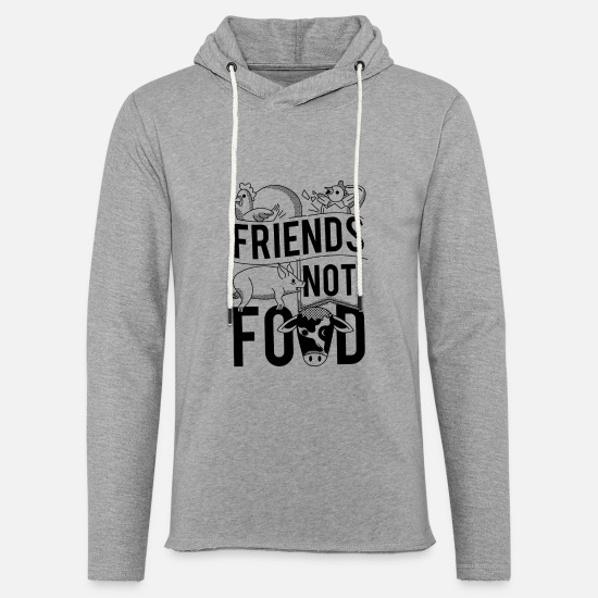 Vegetarian Hoodies & Sweatshirts - Friends Not Food Vegan Vegetarian - Unisex Sweatshirt Hoodie heather grey
