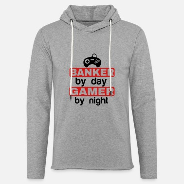 Gamer Grandad BANKER BY DAY GAMER BY NIGHT - Unisex Sweatshirt Hoodie