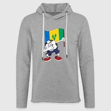 St. Vincent and the Grenadines Dabbing football - Light Unisex Sweatshirt Hoodie