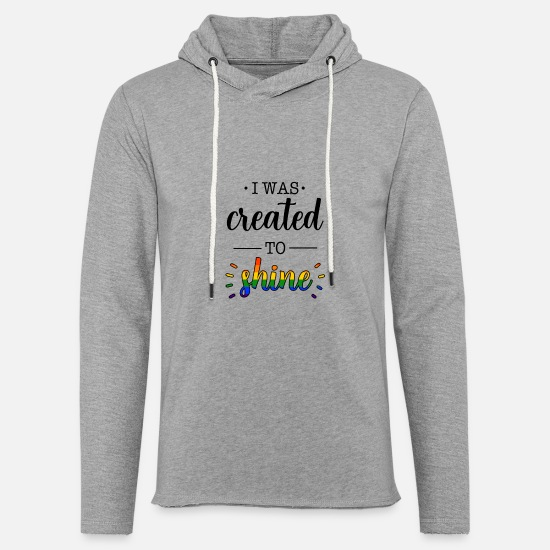 Gay Pride Sweat-shirts - LGBT Gay Pride CSD Rainbow Queer - Sweat à capuche léger unisexe gris chiné