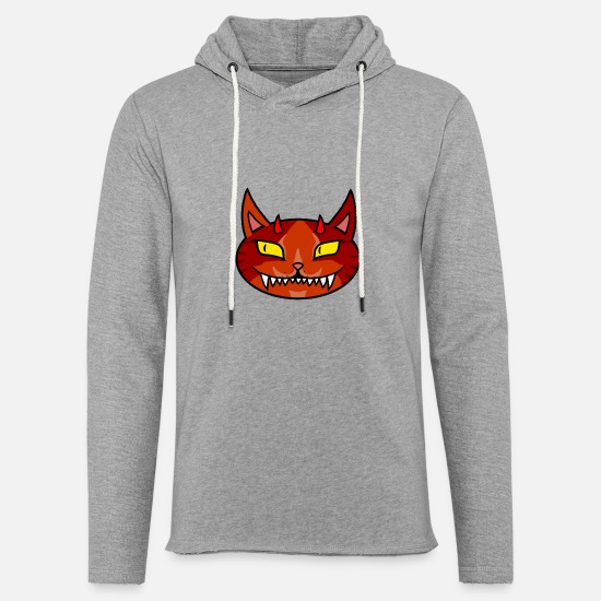 Diable Sweat-shirts - Diable chat - Sweat à capuche léger unisexe gris chiné