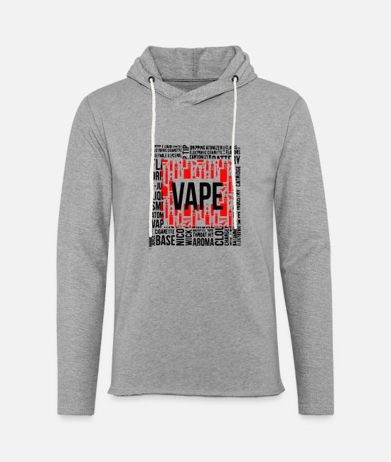 Vaping Hoodies & Sweatshirts - Vape square - Unisex Sweatshirt Hoodie heather grey