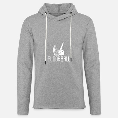 Floorball design blanc - Sweat à capuche léger unisexe