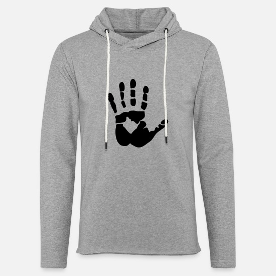 Finger Hoodies & Sweatshirts - Handprint, high five - Unisex Sweatshirt Hoodie heather grey